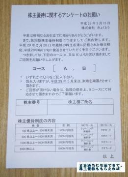 きゅくとう 優待案内 201702