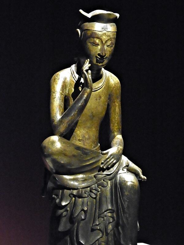 韓国国立中央博物館蔵・韓国国宝83号・半跏思惟像