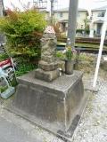 名鉄二ツ杁駅 駅前踏切のお地蔵様 背面