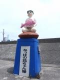 名鉄河和口駅 かっぱの花ちゃん像