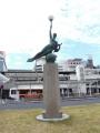 名鉄豊田市駅 名称不明ブロンズ像