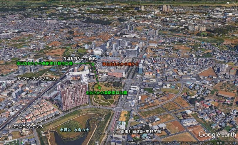 流山おおたかの森駅東側00001maps