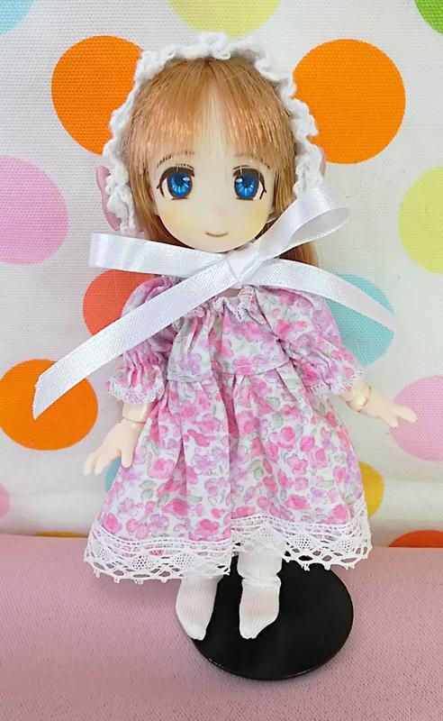 【オビツ11】花柄スモックワンピースセットA