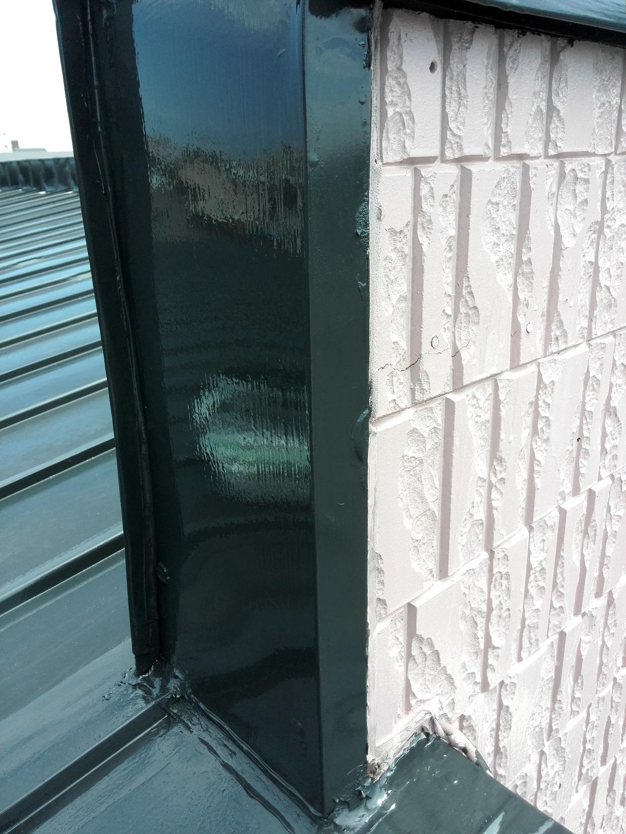 若竹町 M様邸住宅 屋根パラペット立ち上げ部 塗装後