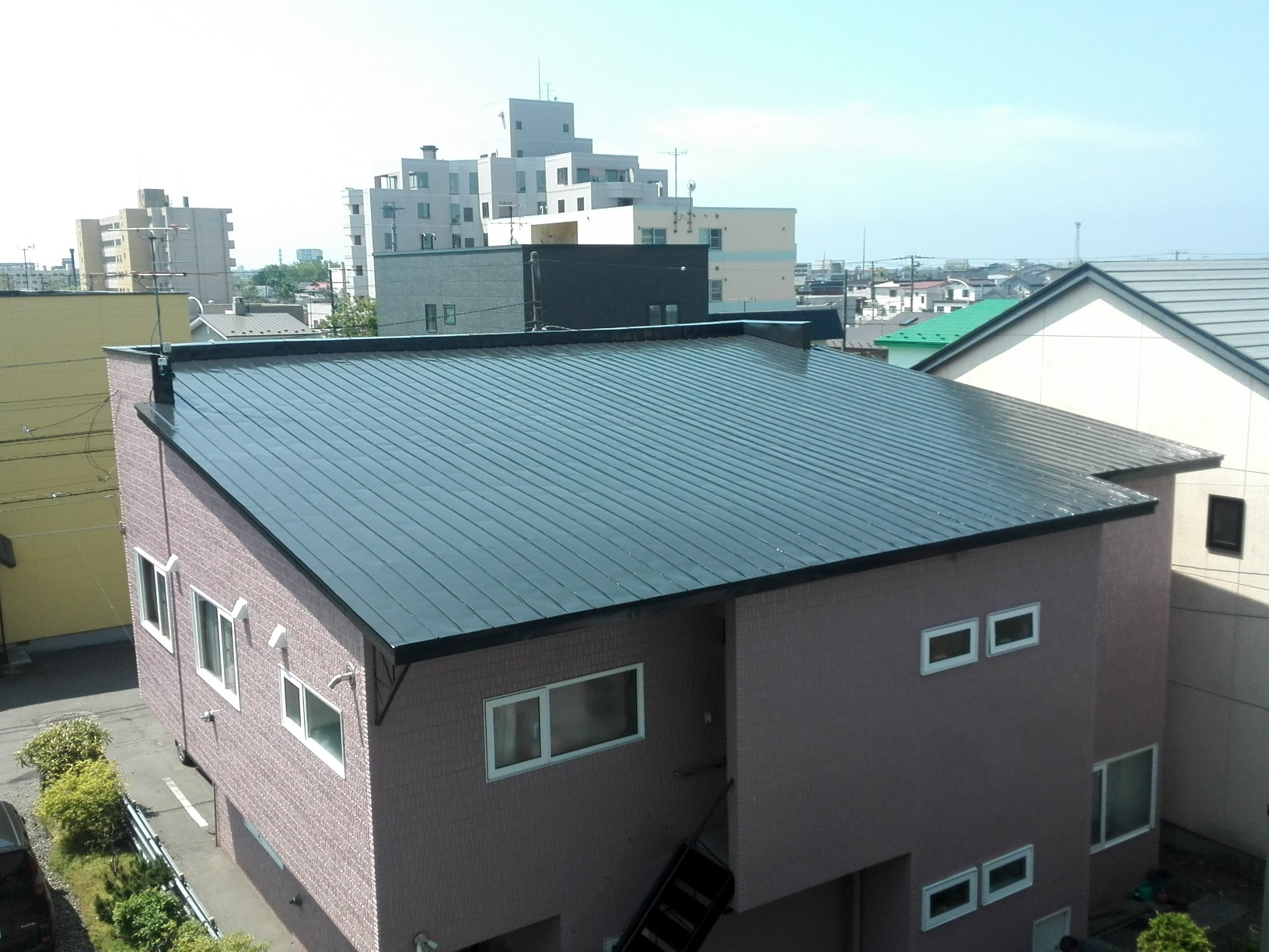 若竹町 M様邸住宅 塗装後屋根外観