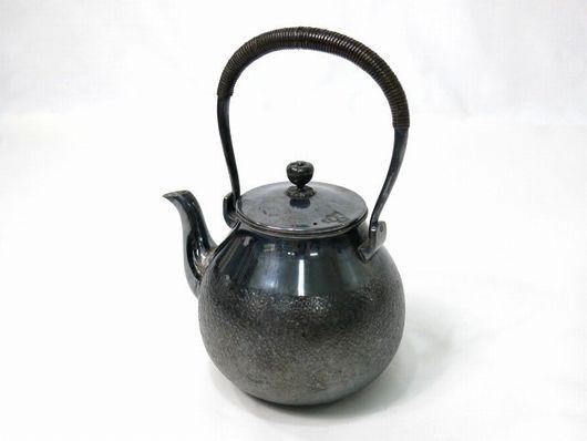 純銀製 銀瓶 湯沸