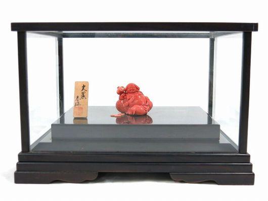 春海作 本珊瑚 天然珊瑚 大黒様