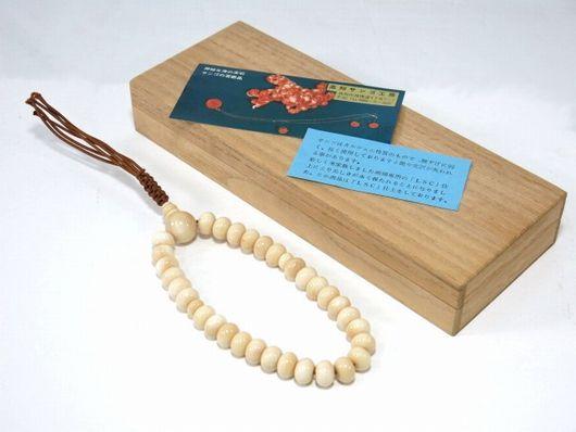 未使用 天然珊瑚 白珊瑚 念珠 数珠 共箱