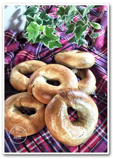 シナモンベーグルとちぎりパン