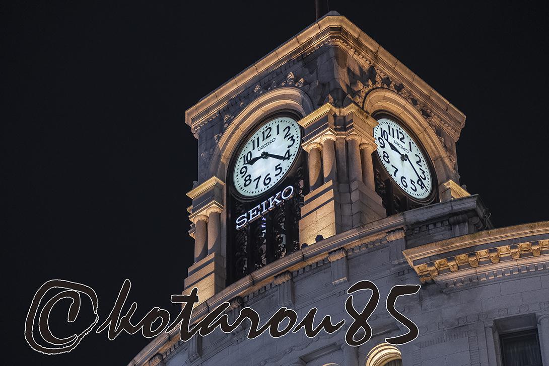 週末の和光時計台 20181110