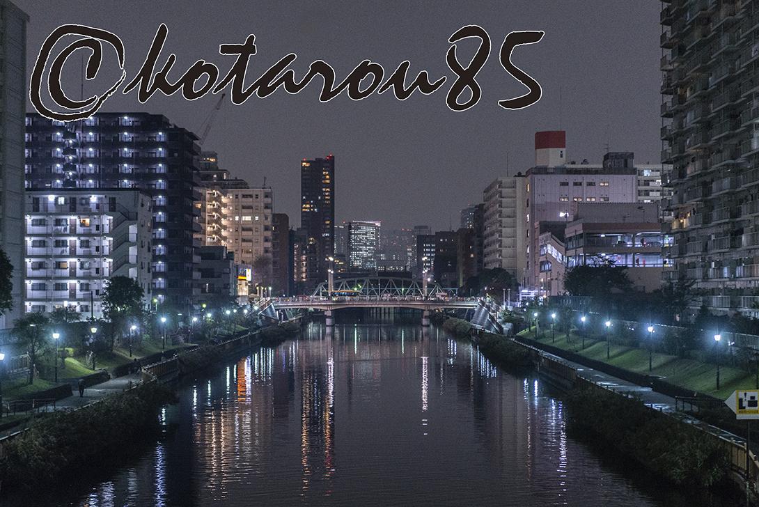 夜の小名木川 20181113