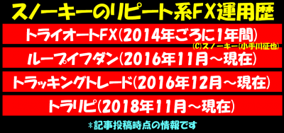 20181101スノーキーのリピート系FX運用歴