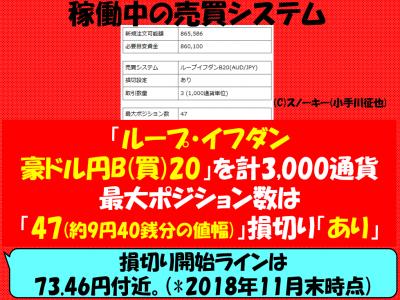 20181129ループイフダン戦略豪ドル円ロング