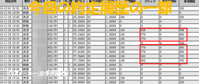 20181201トラッキングトレード検証約定履歴