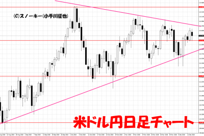 20181215米ドル円日足チャート