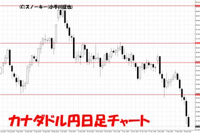 20181222カナダドル円日足チャート