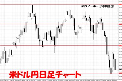 20181229米ドル円日足チャート