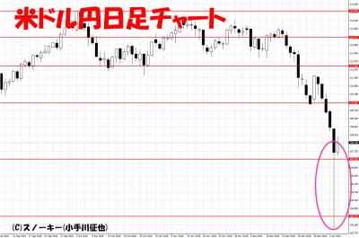 20190104米ドル円日足チャート