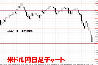 20190105米ドル円日足チャート