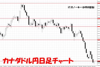 2018年12月カナダドル円日足チャートトラッキングトレード検証用
