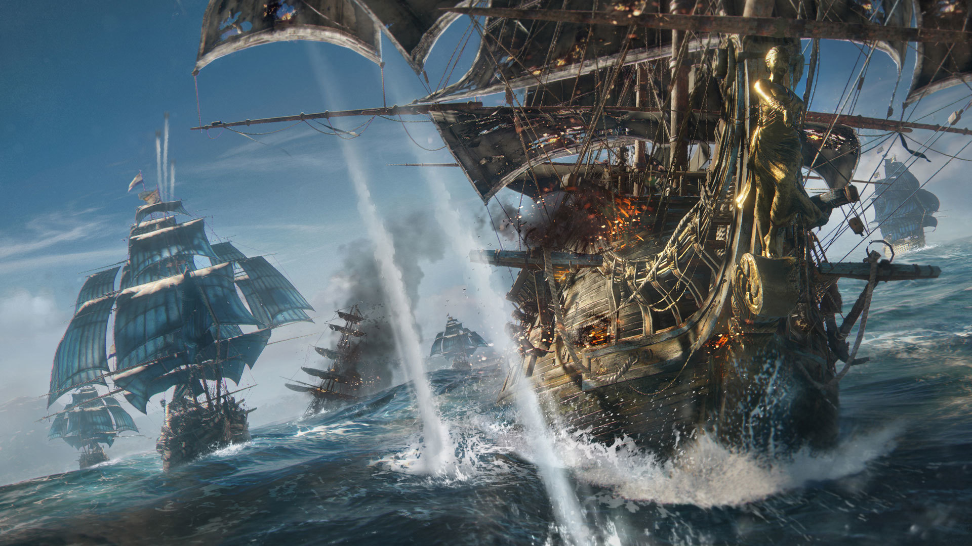 Ubisoft 新規ip Skull And Bones 発表 Wows海賊版 海賊船同士