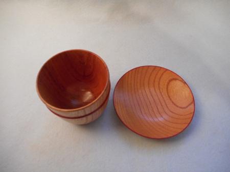 ケヤキの皿付きフリーカップ2