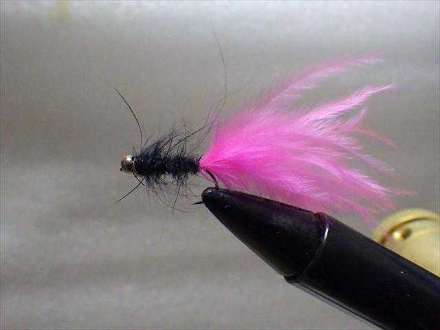 マラブー黒ピンク