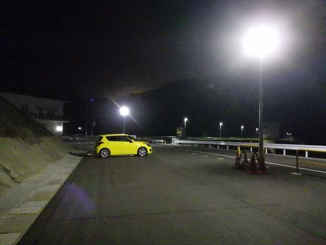 伊良原ダムの駐車場