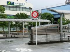 葛西駅西側バス乗り場進入禁止標識