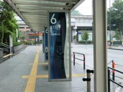二子玉川駅北側乗り場の『黒02』ポール