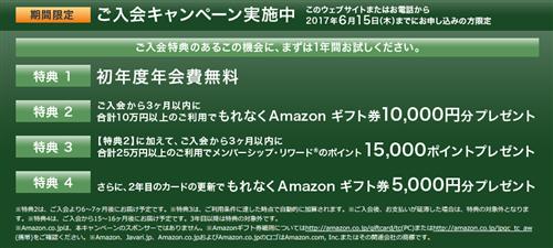 アメックスグリーン×アマゾン