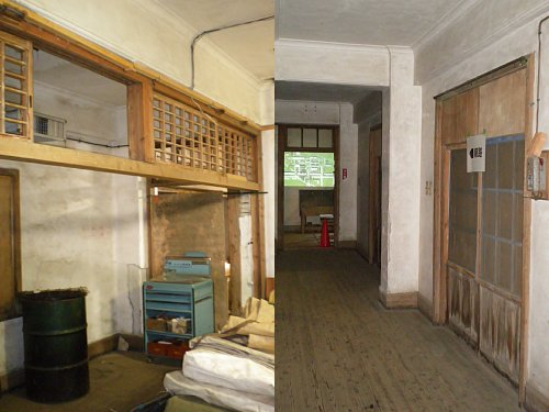 日野桑園第一蚕室・廊下