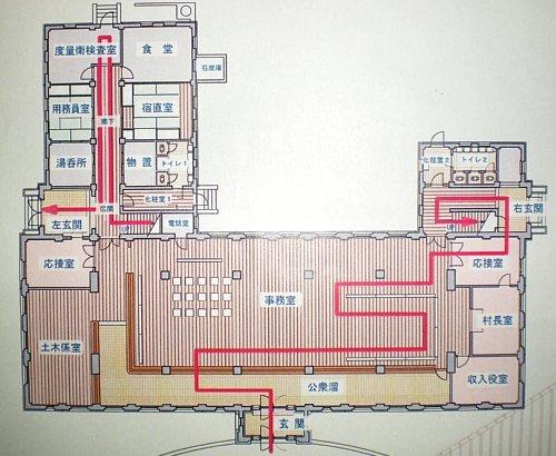 旧岡谷市役所・平面図1F