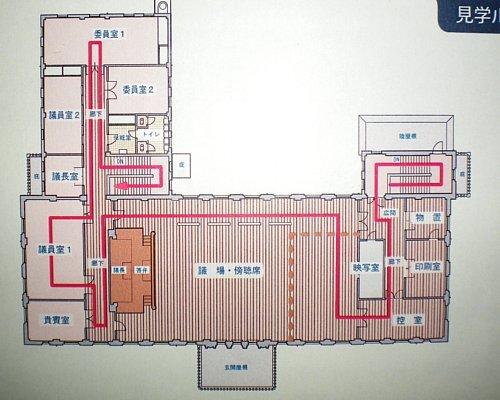 旧岡谷市役所・平面図2F