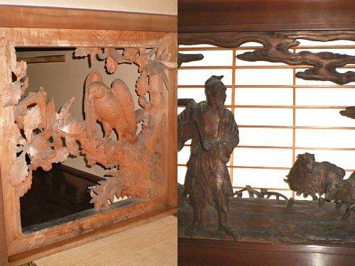 旧林家住宅・彫刻
