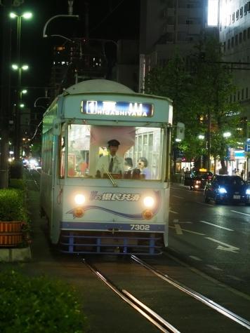 岡山電気軌道7300形 電車 7302【岡山駅前停留場】
