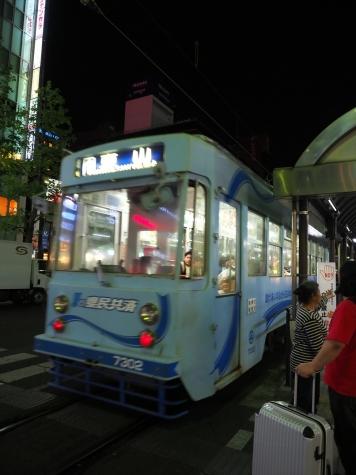 岡山電気軌道 7300形 電車 7302【岡山駅前停留場】