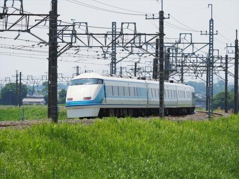 東武日光線 100系 特急 きぬ120号【利根川橋梁】