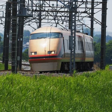 東武日光線 100系 スペーシアきぬがわ3号【利根川橋梁付近】