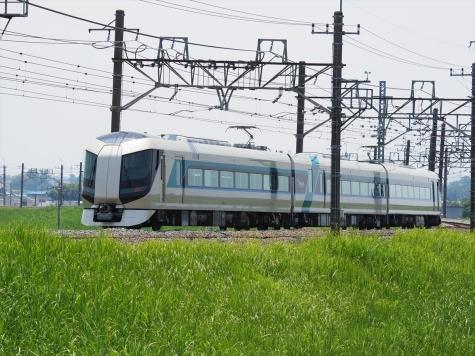 東武日光線 500系 特急 リバティけごん22号【利根川橋梁付近】