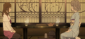 富子と対話する早季