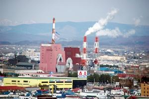 日本製紙の工場