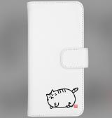 デブ猫ニャポポさん(色無) ウォレットフォンケース