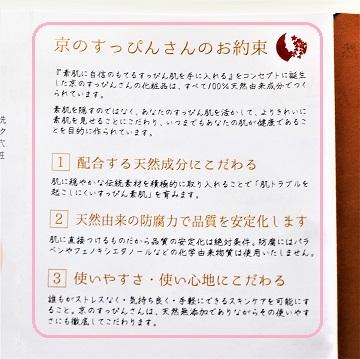 京のすっぴんさん ナチュラルミスト浸-Shin-のパンフレットより