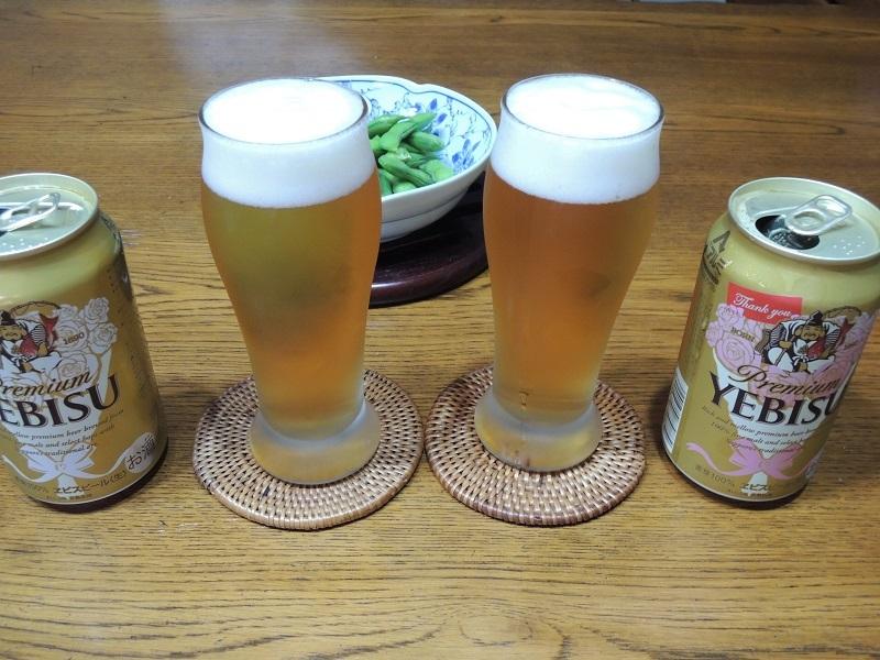 エビス ビールと枝豆