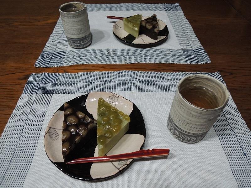 水無月とお茶