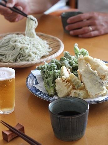 山菜天ぷら蕎麦