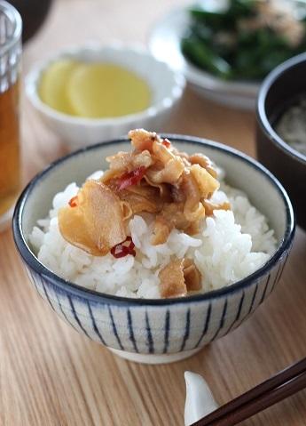 鶏皮佃煮のっけご飯