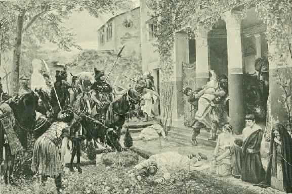 フン族による略奪。ジョルジュ・ロシュグロス画。1910 1910年