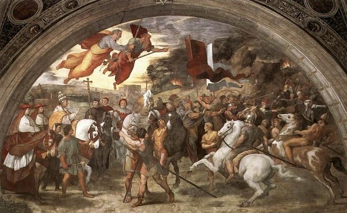 『レオ1世とアッティラの会見』ラファエロ